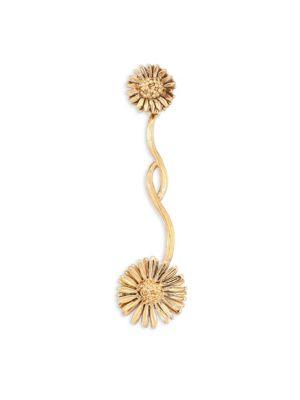 AURELIE BIDERMANN Athina Floral Single Drop Earring