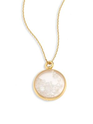 Diamond & 18K Yellow Gold Medallion