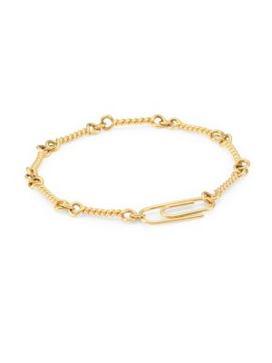 18K Yellow Gold Twisted Chain Bracelet
