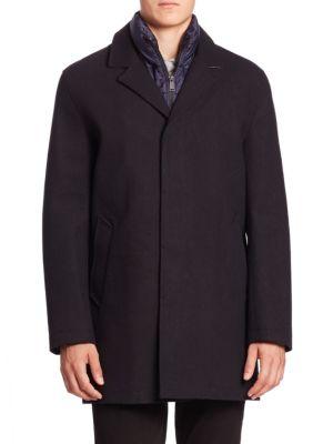 Waterproof Wool Blend Long Coat plus size,  plus size fashion plus size appare