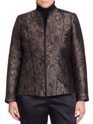 Eliza Jacquard Jacket plus size,  plus size fashion plus size appare