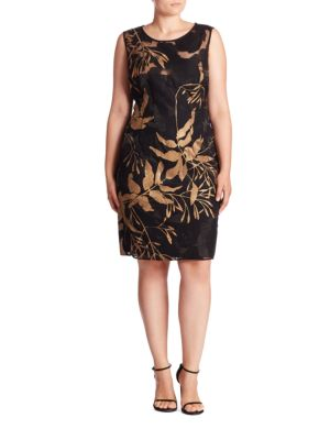 Sleeveless Irid Jacquard Evelyn Shift Dress