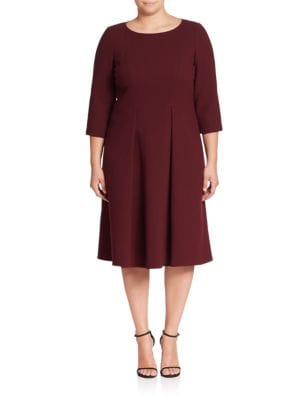Mariam Wool Fit-&-Flare Dress