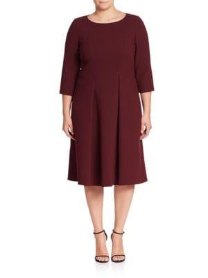 Mariam Wool Fit-&-Flare Dress