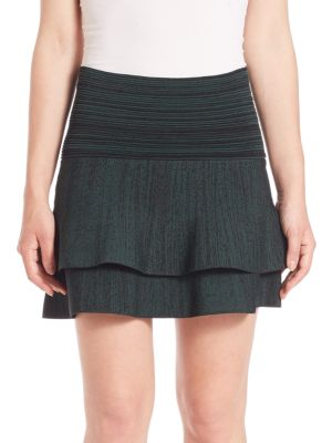 Cotton Two-Tiered Skirt