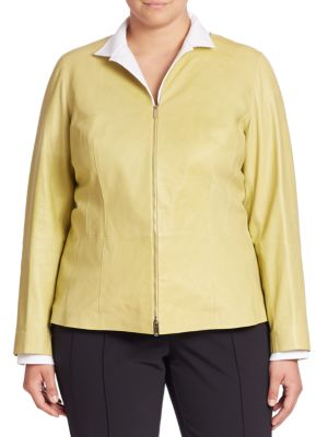 Glazed Maris Leather Jacket plus size,  plus size fashion plus size appare