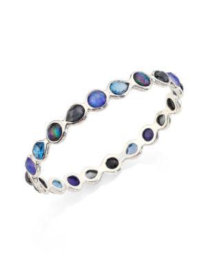 Rock Candy Sterling Silver & Multi-Stone All-Around Bangle Bracelet