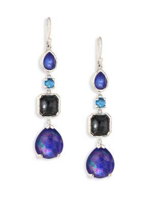 Rock Candy® Sterling Silver Four-Stone Linear Earrings