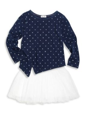 Toddler's & Little Girl's Two-Piece Top & Skirt Set