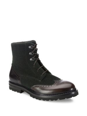 Wingtip Leather Boots