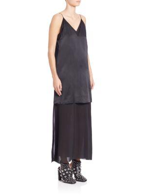 Solid V-Neck Dress
