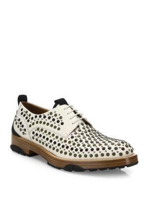 Fulgor 3 Studded Lace Up Leather Shoes