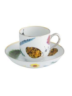 Set of Four Caribe Teacup and Saucer