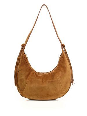 Tassel Detailed Suede Crossbody Bag