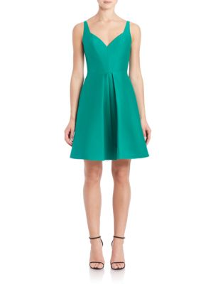 Cotton & Silk Structured Fit-&-Flare Dress