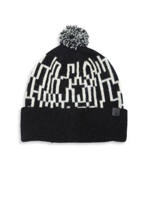 Lambswool Blend Knit Pom Beanie