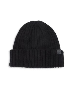 Solid Lambswool Blend Knit Beanie