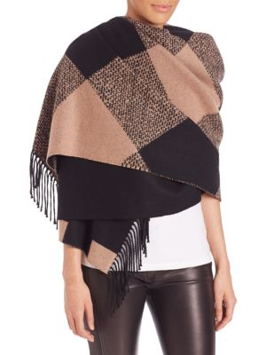Oversized Check Cashmere Scarf
