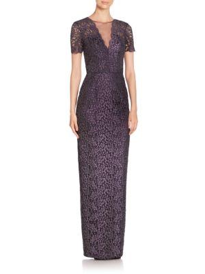 Lace-Work Column Dress