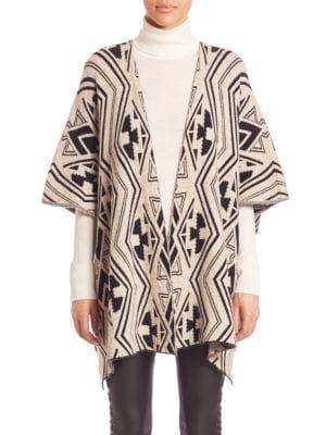 set female 46705 tribal pattern poncho
