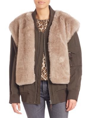 Two-In-One Faux Fur Vest & Bomber Jacket