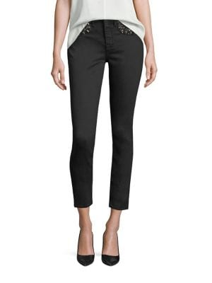 Riche Touch Embellished Skinny Ankle Jeans