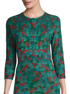 Large Ai Intarsia Knit Cardigan