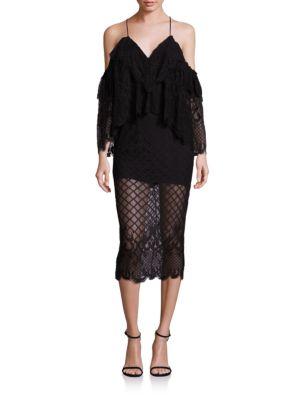 Bless This Dress Cold Shoulder Midi Dress