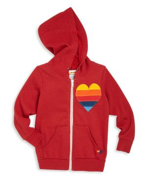 Little Girl's & Girl's Heart Applique Hoodie