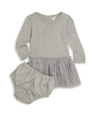 Baby's Long Sleeve Dress & Bloomer Set