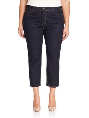 Ira Cropped Straight-Leg Jeans