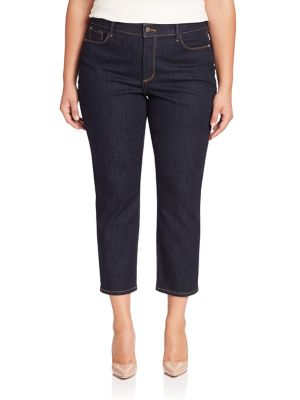 Ira Cropped Straight-Leg Jeans plus size,  plus size fashion plus size appare