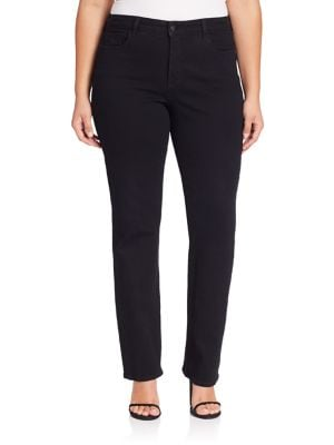 Hayley Straight-Leg Jeans plus size,  plus size fashion plus size appare