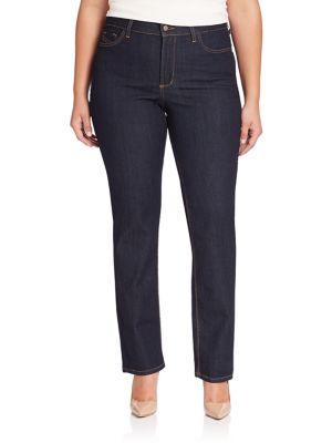 Marilyn Straight-Leg Jeans plus size,  plus size fashion plus size appare