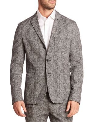 michael kors male herringbone blazer