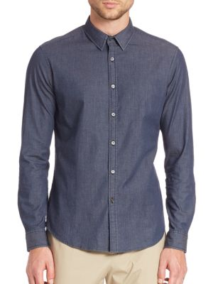 Zack Long Sleeve Cotton Blend Shirt