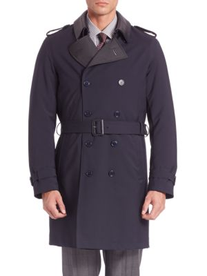 Long Sleeve Virgin Wool Trench Coat
