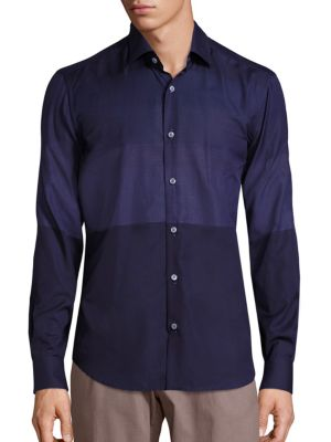 Tonal Check Cotton Shirt