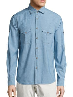 COLLECTION Chambray Cotton Shirt