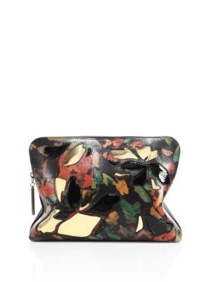 31 Minute Multicolor Leather Cosmetic Zip Case