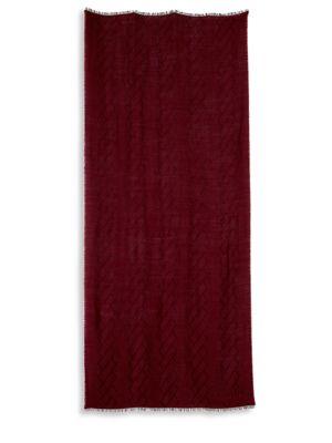 Textured Wool Blend Stole