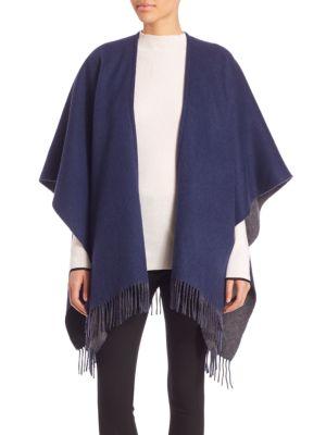 rag bone female 236621 fringe wool poncho