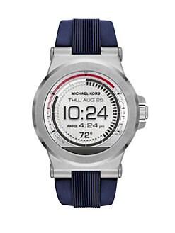 Michael Kors - Michael Kors Access\u0026lt;br\u0026gt;Dylan Stainless Steel \u0026amp; Silicone Strap Smartwatch