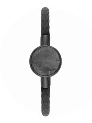 Michael Kors Access Black IP, Black Mother-of-Pearl & Silicone Tracker Bracelet