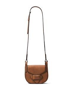 ac33edc1a65439 Michael Kors Collection Small Leather Saddle Crossbody Bag