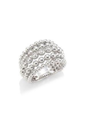 Bubbles 18K White Gold & Diamond Statement Ring