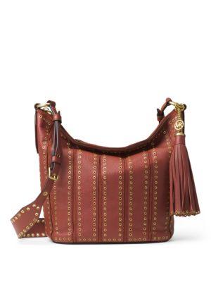 Brooklyn Medium Grommeted Leather Feed Bag