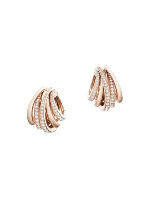 Allegra 18K Rose Gold & Diamond Hoop Earrings