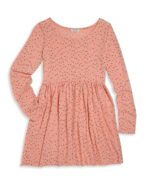 Toddler's, Little Girl's & Girl's Star-Print Fit-&-Flare Dress