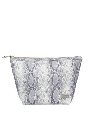 Laura Snake Print Large Cosmetic Bag
